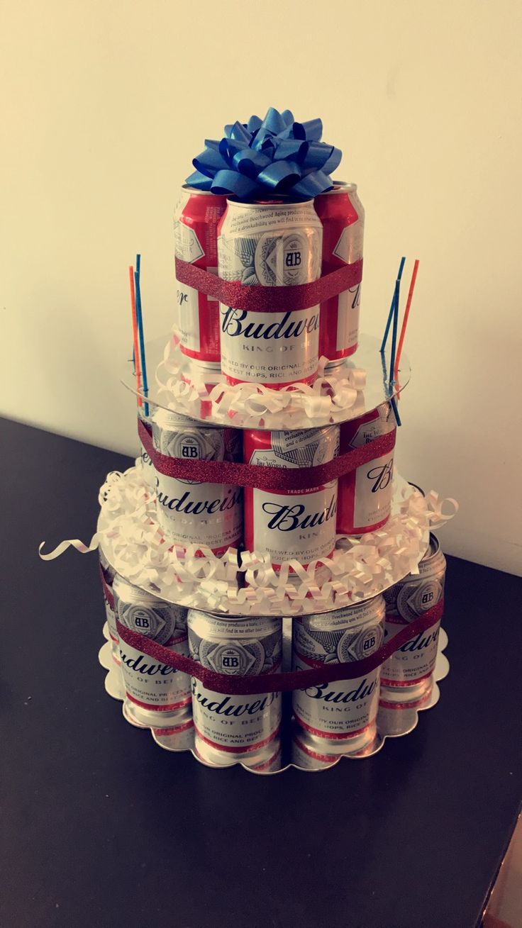 Budweiser Beer Cake!! Perfect for a guy's 21st when you can't bake
