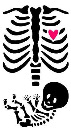 Krafty Nook: Maternity Skeleton Template