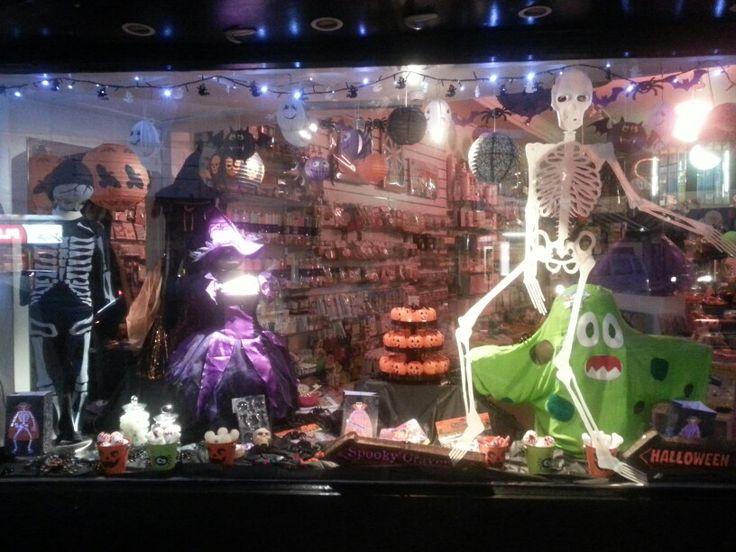 Halloween window at Build a Birthday Wellington