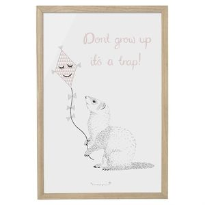 """Don't Grow Up. It's A Trap"" Wall Decor"