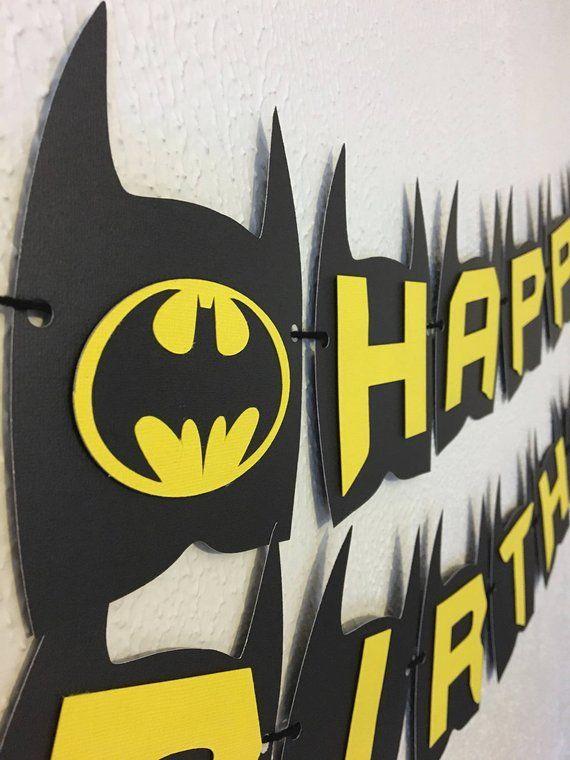 Batman Birthday Banner Batman Party Batman Theme Batman Etsy
