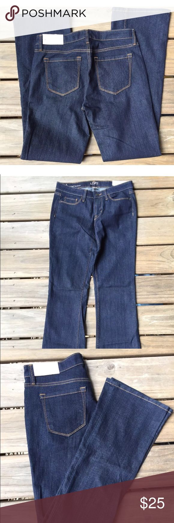 Brand new! Ann Taylor Loft Bootcut Jeans Sz 4 Brand new with tags!!! Women's Dark Wash Jeans From Ann Taylor Loft Bootcut Size 4 LOFT Jeans Boot Cut