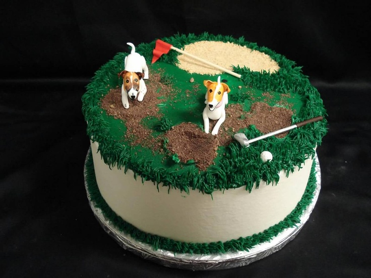 Digging Dog Cake Decoration : 1000+ images about Wedding : Groom s Cakes! on Pinterest Groom Cake, Golf Cakes and Golf Bags