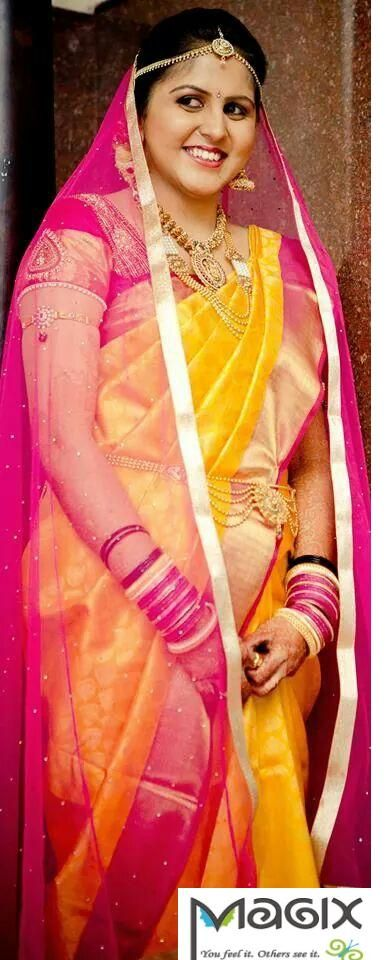 southindian bride for muhurtham bridal makeover by magixspa