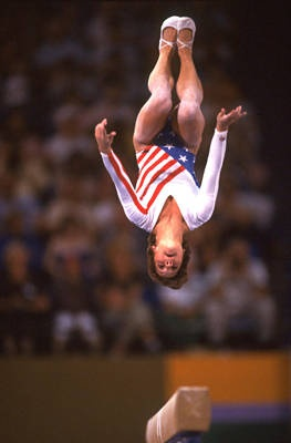 Mary Lou Retton - American Gymnast  - won gold medal  1984 Olympics - Individual all-around competition