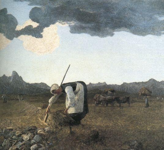 La raccolta del fieno, 1889-1898, Olio su tela, Comune di St. Moritz