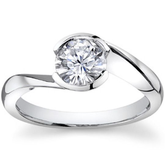 Certified Engagement Ring Round Cut 1.00Ct Diamond 14K White Gold Bridal jewelry #DiscoverDiamonds #Solitaire