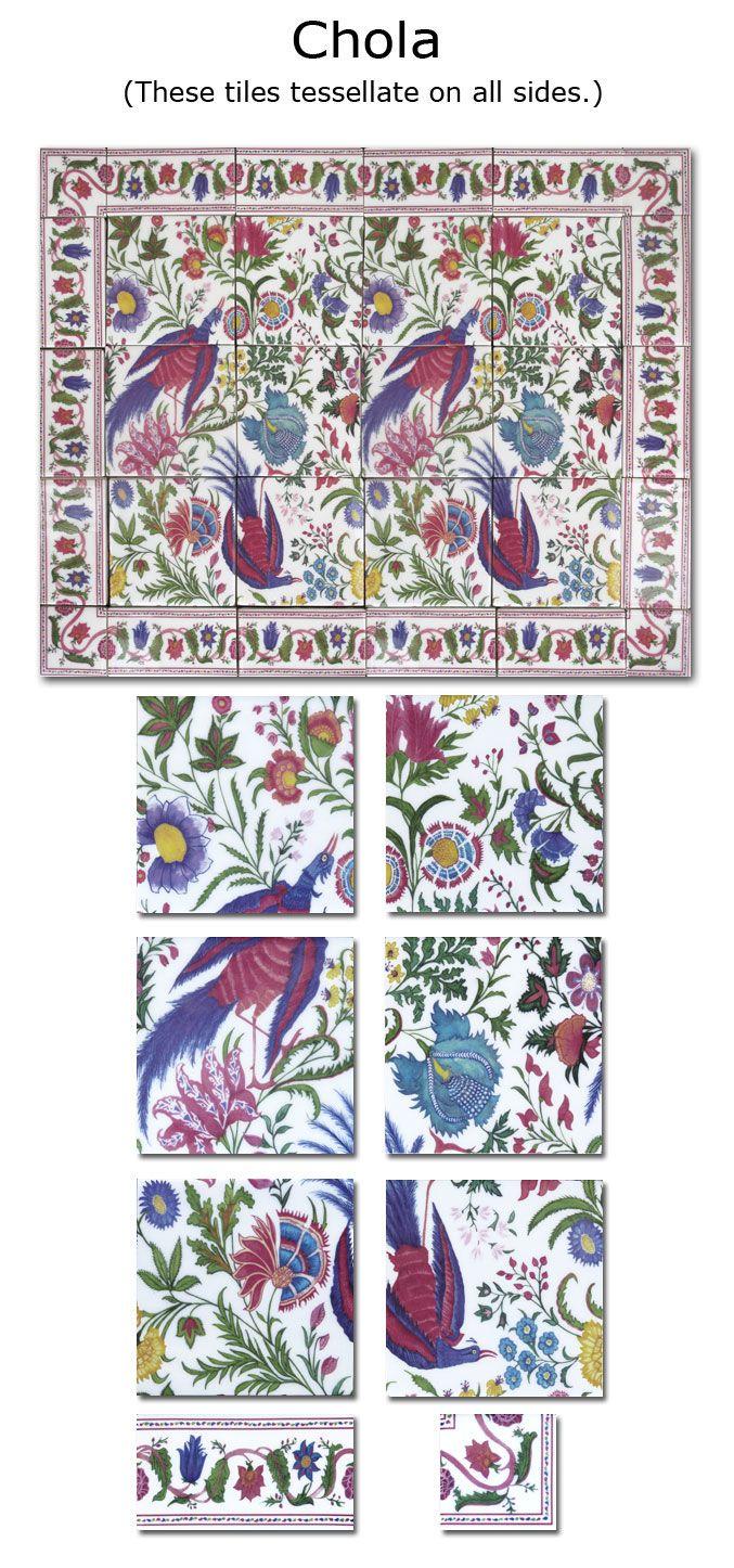 Decorative, handmade wall tiles: Chola - Wall Tiles
