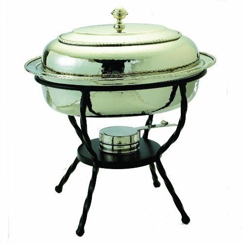 Old Dutch 16.5 Inch x 12.5 Inch Round Stainless Steel Chafing Dish