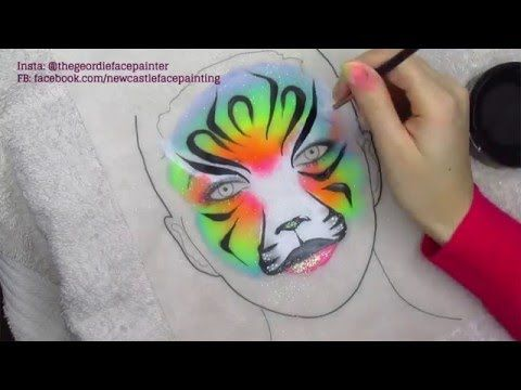 The 25 best Tiger face paints ideas on Pinterest #1: 6339a7883b14ed7a2aba ad64c0