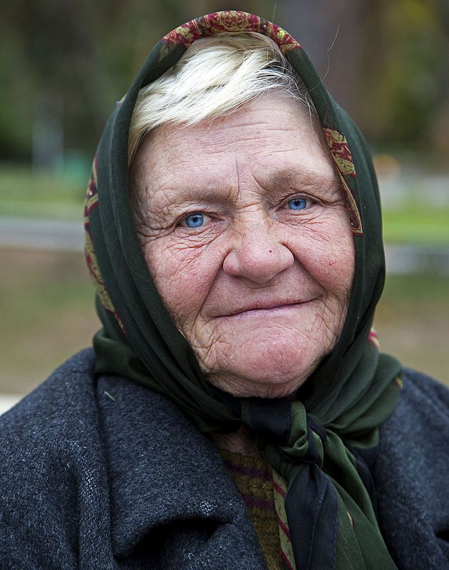 Amazing blue eyes of a Kazakh old lady. Almaty, Kazakhstan ...