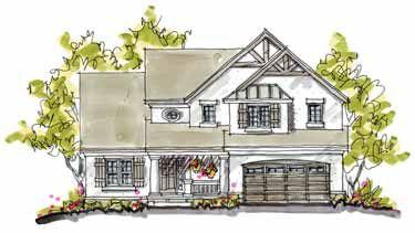 A Sumptuous Retreat (HWBDO07808) | Cottage House Plan from BuilderHousePlans.com