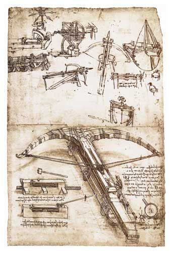 A Giant Crossbow or Ballista on Wheels, by Leonardo Da Vinci