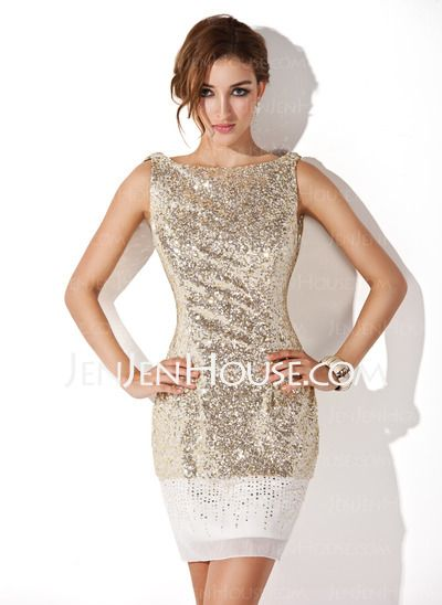 Cocktail Dresses - $173.49 - Sheath Scoop Neck Short/Mini Sequined Cocktail Dresses (016008346) http://jenjenhouse.com/Sheath-Scoop-Neck-Short-Mini-Sequined-Cocktail-Dresses-016008346-g8346