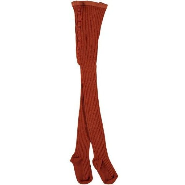 Ribbed Tights Rust Orange ($42) ❤ liked on Polyvore featuring intimates, hosiery, tights, ribbed stockings, ribbed tights, orange pantyhose, orange stockings and ribbed pantyhose