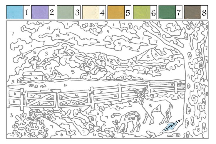 Pin By Kimberly Larson On Up North Paint Number Free Coloring Pages Numbers
