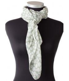 Elegant kvadratisk tørklæde i ren silke