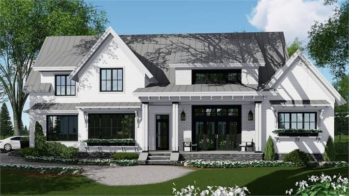 60 Modern Unique Dream House Exterior Designs For Your Inspiration 38 Justaddblog Farmhouse Style House Modern Farmhouse Plans Farmhouse Style House Plans