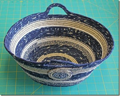 coiled denim basket: