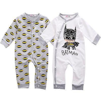 Aliexpress.com: Comprar Mameluco del bebé recién nacido bebé Girls Boy Batman mamelucos Playsuit trajes de trajes de algodón del otoño del resorte ropa 0   18 M de ropa de algodón de trabajo fiable proveedores en YiYa store