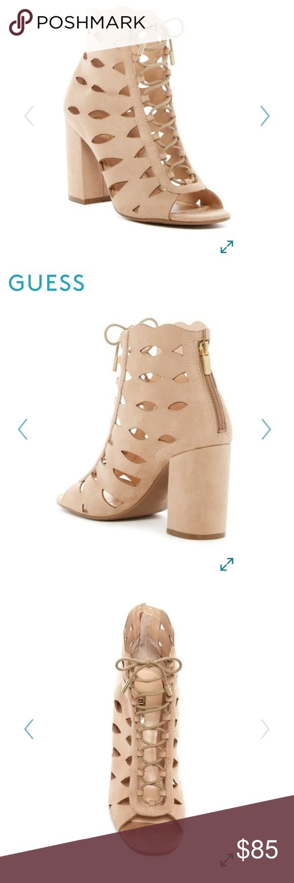 🌟COMING SOON!🌟 NWT Guess cutout lace up sandal in beige/stone! Also available in cognac/brown in a separate listing Guess Shoes