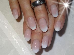hübsche ovale Babyboomernägel – nails