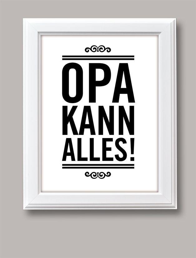 Typo für Großväter / art print for grandfathers by BarbsHome via DaWanda.com