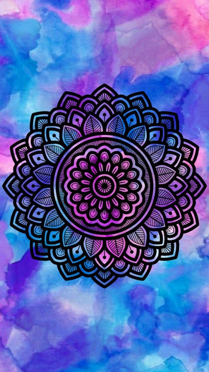 Mandala mandalas arte fondo zentangleart color for Imagenes d fondo de pantalla para celular