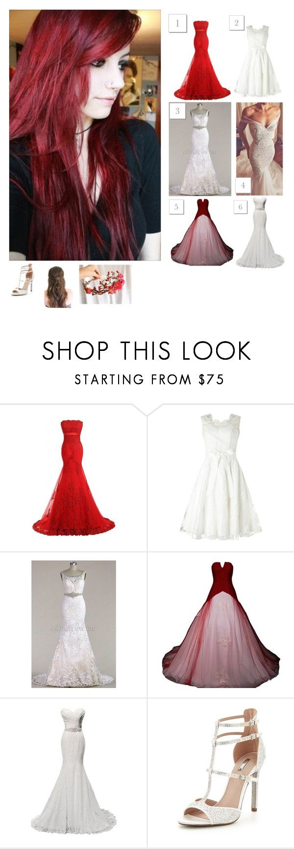 """-looking at wedding dresses online, not wanting to go try them on till after the twins"" by heydontswear ❤ liked on Polyvore featuring Phase Eight and Carvela"