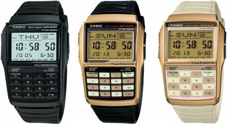 Colorful Casio Databank Watches $69.95