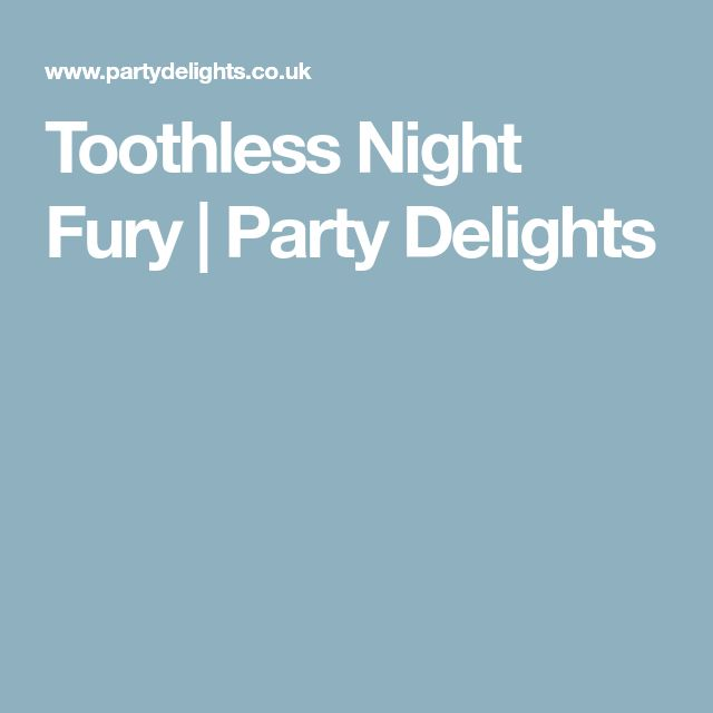 Toothless Night Fury | Party Delights