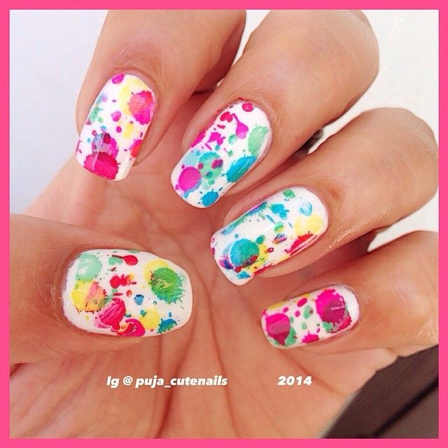 Happy holi nail art using moyou london pro collection 04