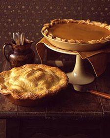 Old fashioned apple pie from Martha Stewart