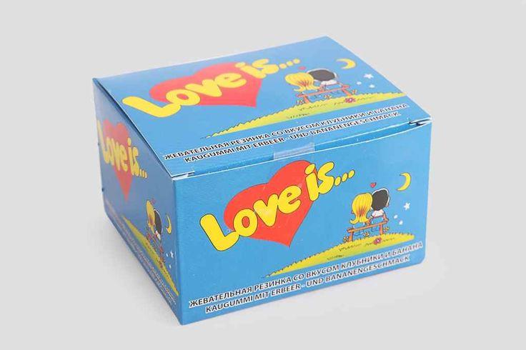 крутой Жевательная резинка «Love is» клубника-банан, mini  #Подарки #Подаркииз90-х,Жевательнаярезинка«Loveis»клубника-банан,mini