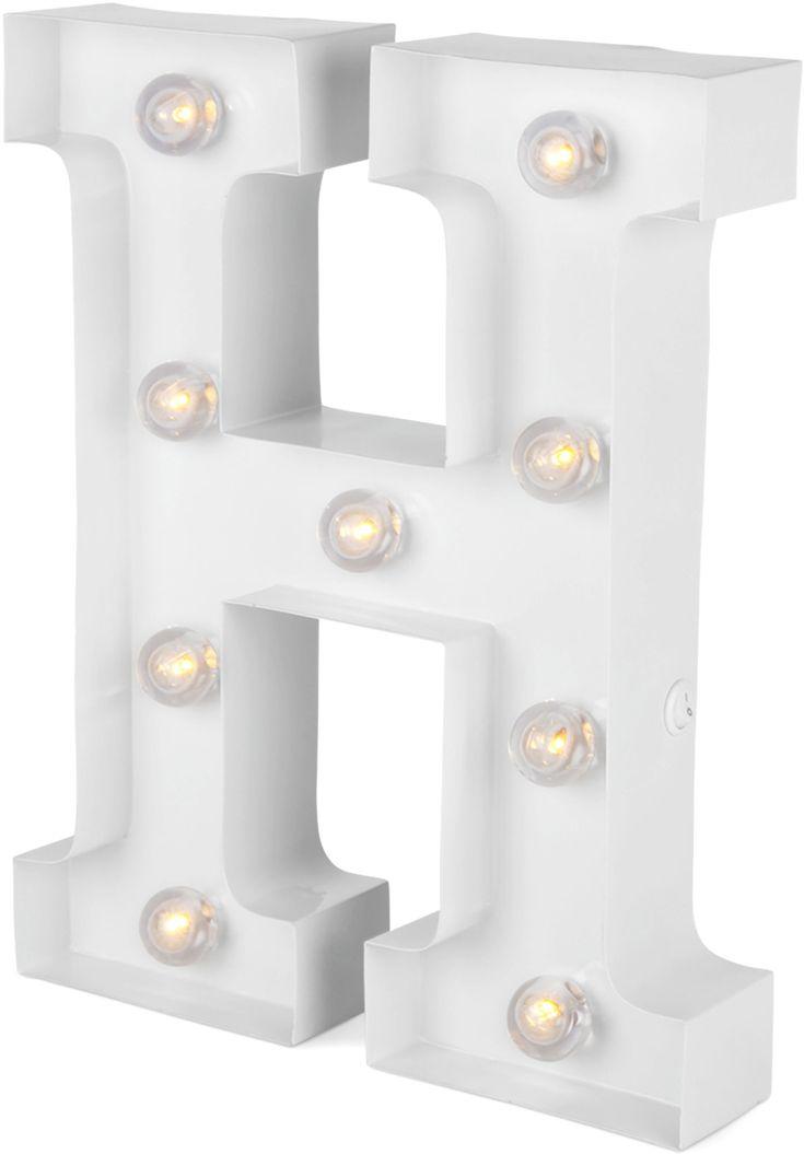 Köp Alice & Fox Lampa Bokstav H, Clear White | Jollyroom
