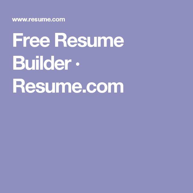 free resume builder resumecom