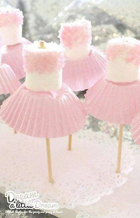 Ballerina marshmallows