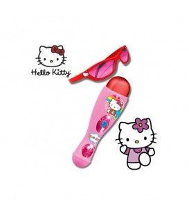 Set microfon si ochelari Hello Kitty