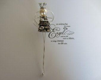 Angel guardian angel Angel button by knopfwerkstatt on Etsy