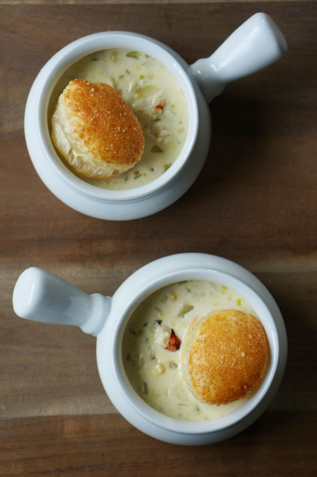 Crab Chowder... I know this is no where near healthy, but I'm going to have to make this for cheat day!