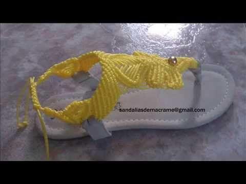 Sandalias hechas a mano, macrame el arte de tejer con las manos - YouTube