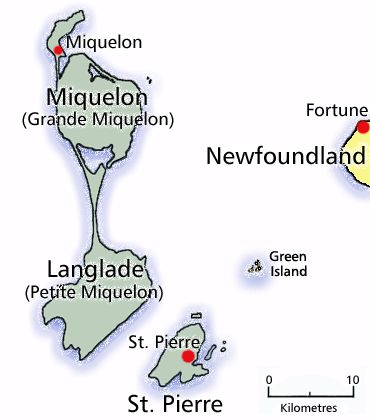 St. Pierre and Miquelon, France (So close!!)