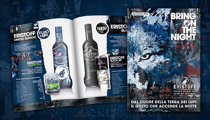 Eristoff Vodka - Bring On The Night #adv #wolf #design #beverage