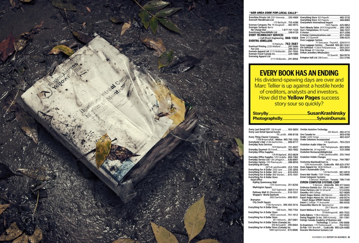 """Honourable Mention in Creative #Photography. """"Yellow"""" by Sylvan Dumais and Domenic Macri published in Report On #Business, 2011."""