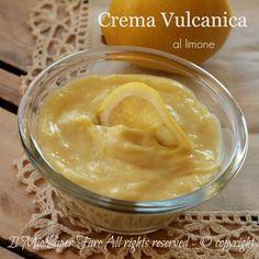 La crema Vulcanica è una crema pasticcera vellutata e golosa. La ricetta è senza farina e questo la rende una crema senza glutine.Il metodo vulcanico è Knam