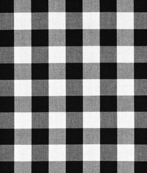 "Robert Kaufman 1"" Black Carolina Gingham Fabric      for kitchen curtains"