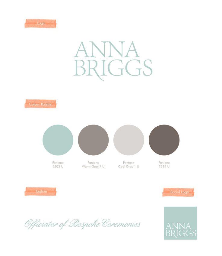Anna Briggs, Officiator of Bespoke Ceremonies, Funeral Officiator, Brand Design, Logo, Colour Palette, Social Logo. By Leaff Design, Worcester UK.