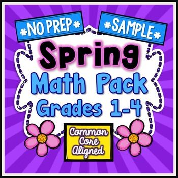80 best free tpt math 3rd 5th images on pinterest teaching ideas spring no prep math grade put down your scissors and forget the laminator this 60 page spring mega math pack for grade requires no prep fandeluxe Images