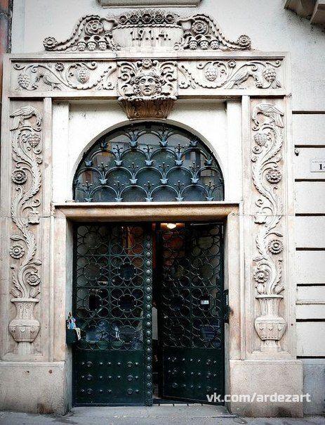 Doors in Budapest, Hungary