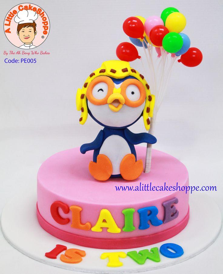 Code: PE005  For enquiries, please email to info@alittlecakeshoppe.com  www.alittlecakeshoppe.com Instagram - instagram.com/alittlecakeshoppe Pinterest - pinterest.com/ALCSingapore    #Pororo #CustomCakes #ALittleCakeShoppe #Singapore #Customised #Birthday #Cakes